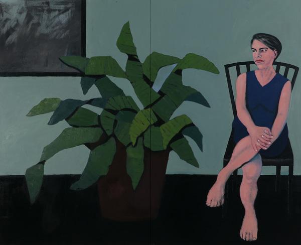 ציור של מיכל ויטלס, מתוך התערוכה