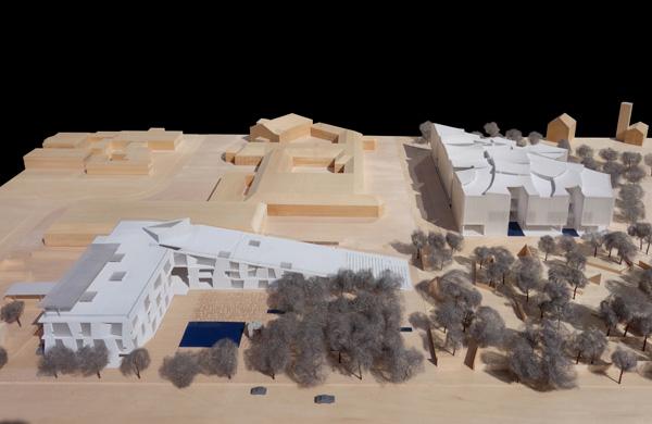 מודל פיזי, מבט כללי. תכנון: Steven Holl Architects