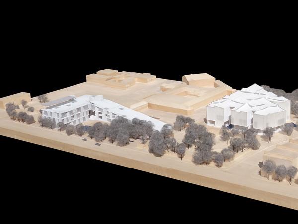 מודל פיזי, מבט מהצד. תכנון: Steven Holl Architects