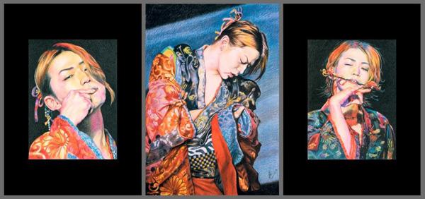 רישומיה של ויקטוריה זלטקין. מתוך התערוכה בתל אביב
