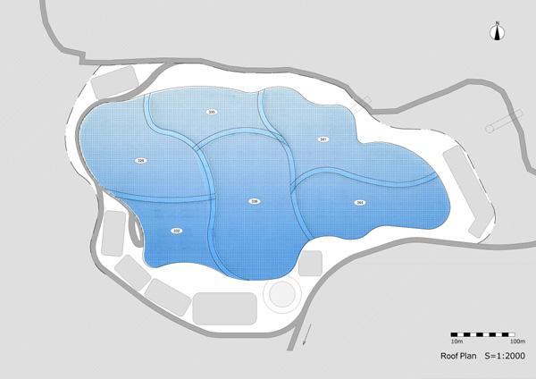 תכנית הגג. תכנון: EASTERN design office