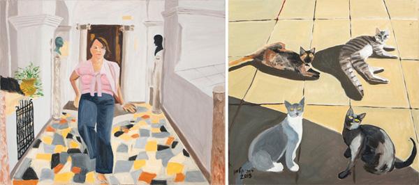ציורים של רותי קלמן, מתוך התערוכה בגלריה בן עמי