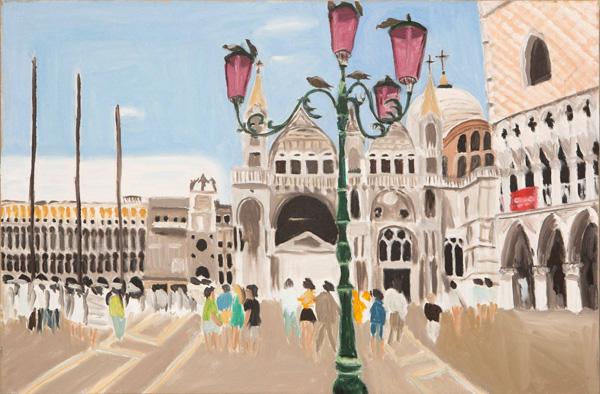 ציור מהתערוכה בגלריה בן עמי, רותי קלמן