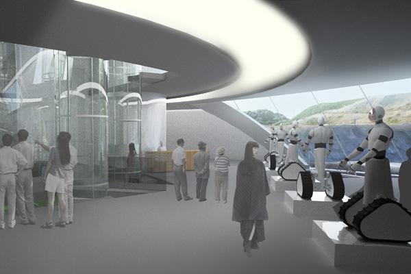 תערוכה בבנין Avatar X Lab. תכנון והדמיה: Clouds Architecture Office