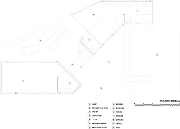 תכנית מפלס תחתון. תכנון: LSD Architects.