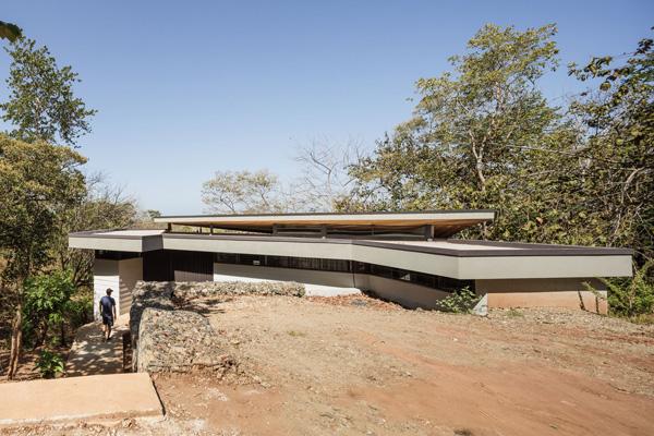 ירידה לכניסה לבית. תכנון: LSD Architects. צילום: Fernando Alda