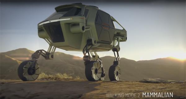 מתוך סרטון הדמיית כלי הרכב ELEVATE, צילום מסך