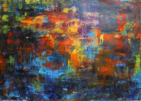 אורלי שלם, ציור מתוך התערוכה החדשה בתל אביב