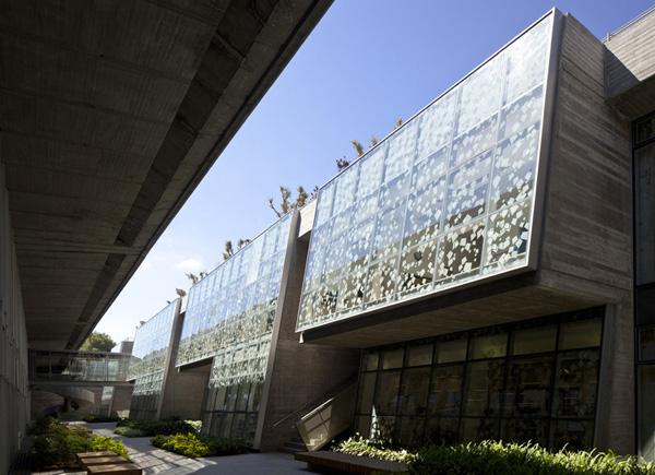 ספריית יונס וסוראייה נאזארין באוניברסיטת חיפה, זוכה פרס רכטר 2016. צילום: עמית גרון.