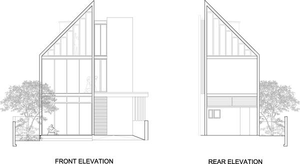 חזיתות. תכנון: HYLA Architects