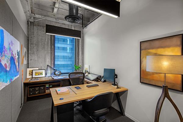 חדר פרטי במשרד. תכנון: Rapt Studio. צילום: Eric Laignel