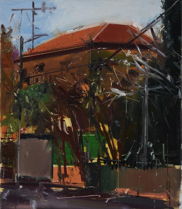 ציור של מאיר אפלפלד, שמן על בד, מתוך התערוכה החדשה
