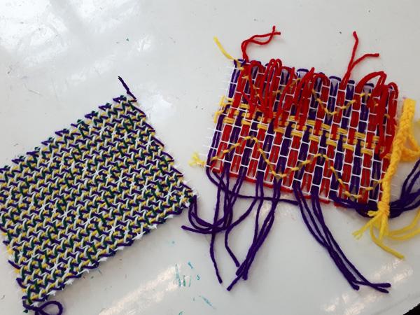 פסח במתחם המוזאונים בבאר שבע - סדנת לטווית שטיחים. באדיבות מוזאון הנגב לאמנות