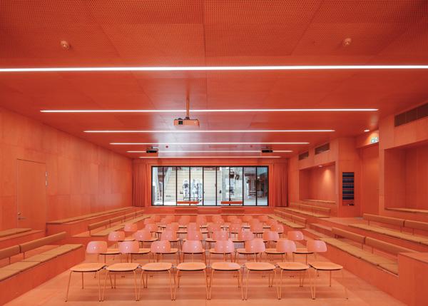 חדר הרצאות- פנים תכנון: MVRDV+COBE צילום:Ossip van Duivenbode