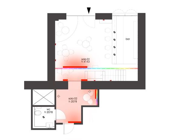 המיצב של קולקטיב זירו - תכנית המקום.