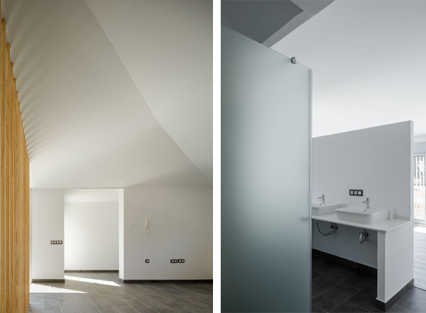 מחיצות מסוגים שונים מחלקות את הבית מבלי לחסום את זרימת האור והאויר, צילום: Fernando Alda