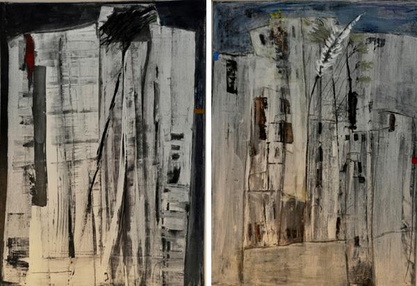 מתוך התערוכה, ציורים: סאלח אלקרא. צילום: נטור נטור