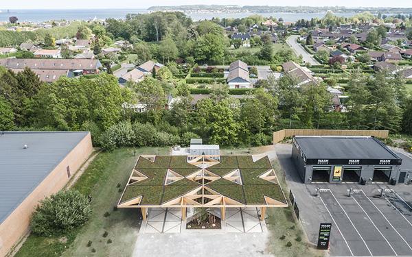 Ultra-fast charging station roof top credit COBE and Rasmus Hjortshøj - COAST