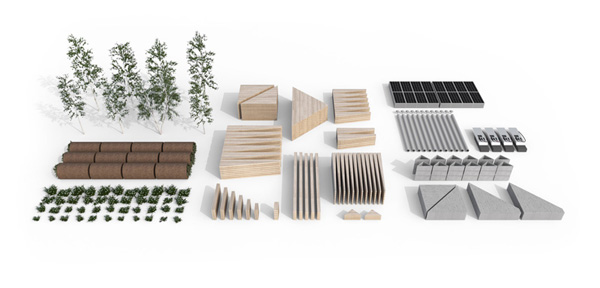 construction materials are selected for their sustainable properties, credit COBE and Rasmus Hjortshøj - COAST