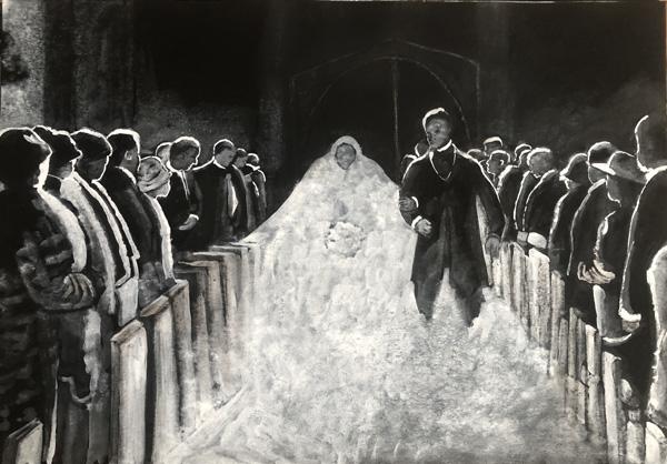 ציור מתוך התערוכה חגיגות, רות נורמן