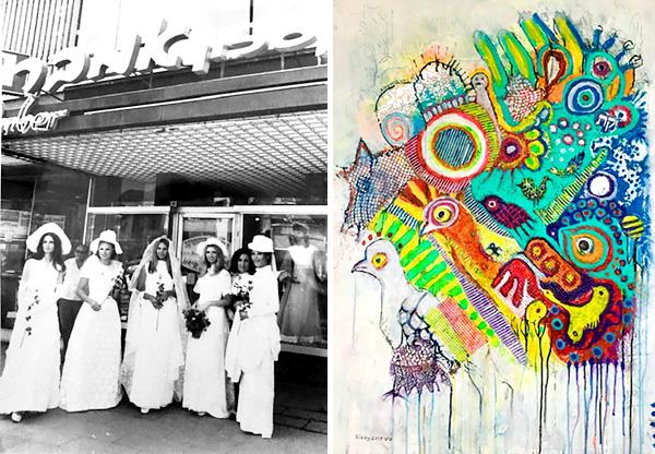 עבודה של סיסי דגן [משמאל], סלון אמבר במיתולוגי [מימין] קרדיט: יח