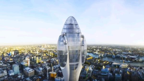 גונדולות שקופות ומסתובבות מאפשרות נקודות תצפיתעל לונדון  שלא נראו קודם, הדמיה: צילום מסך מיוטיוב