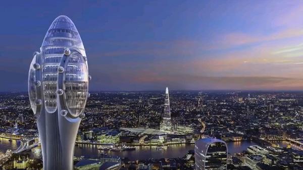 התצפית הגבוהה ביותר בלונדון, הדמיה: צילום מסך מיוטיוב