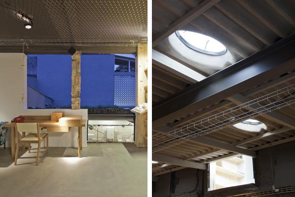 פתחים בתקרה וחלונות גדולים מאפשרים כניסת אור טבעי לחלל , צילום: מריה אקייבה