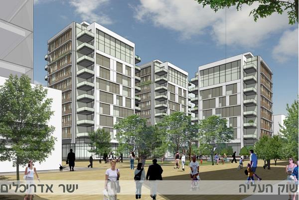 קרדיט הדמיות פרויקט המגורים- ישר אדריכלים.
