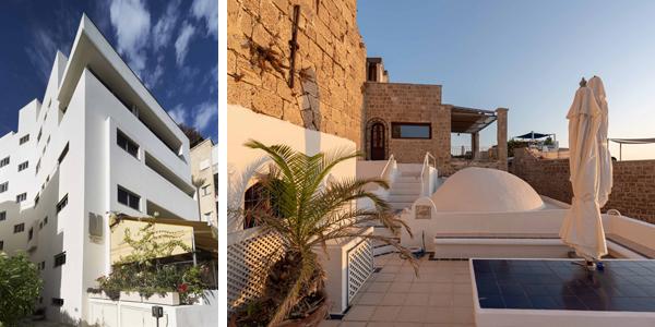 מימין: בית דובי זלצר, צלם: דניאל חנוך. משמאל: the rothschild צלם: אסף פינצוק