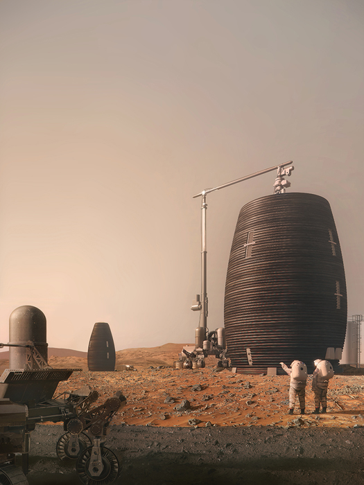 AI-SpaceFactory-Mars-Habitat, Image by:  AI SpaceFactory and Plomp