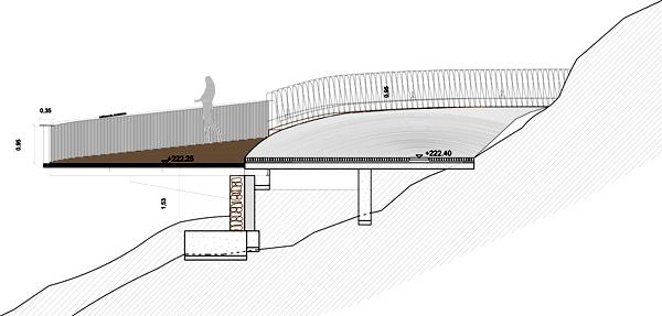 תוכנית נקודת התצפית .באדיבות:  WaterScales arquitectos