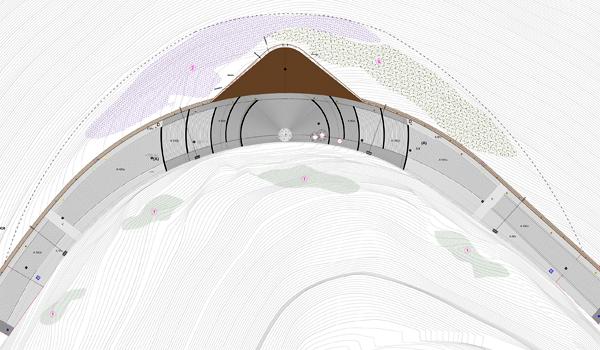 תוכנית נוף של נקודת התצפית המרכזית WaterScales arquitectos