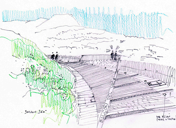 Alora Mirador sketch, Architects: WaterScales arquitectos