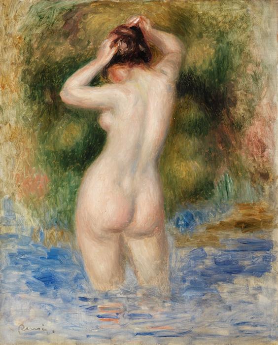 Pierre-Auguste Renoir, Bather [Baigneuse], c. 1890, The Barnes Foundation