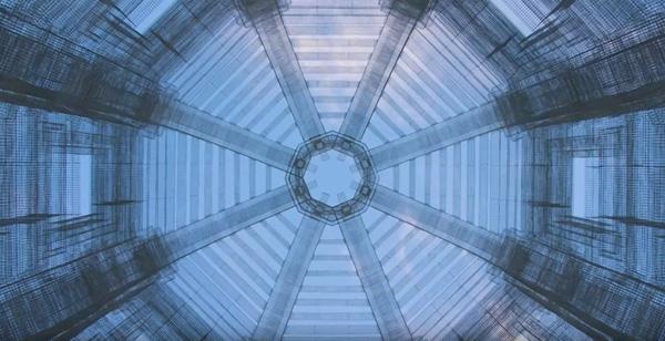פרט גג במבט מן הקרקע, אוריריות גיאומטרית. אדוארדו טרסולדי-ETHEREA. צילום מתוך יוטיוב.