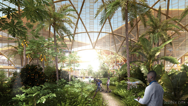 GREENHOUSE: Communal farming is the heart of each neighborhood,