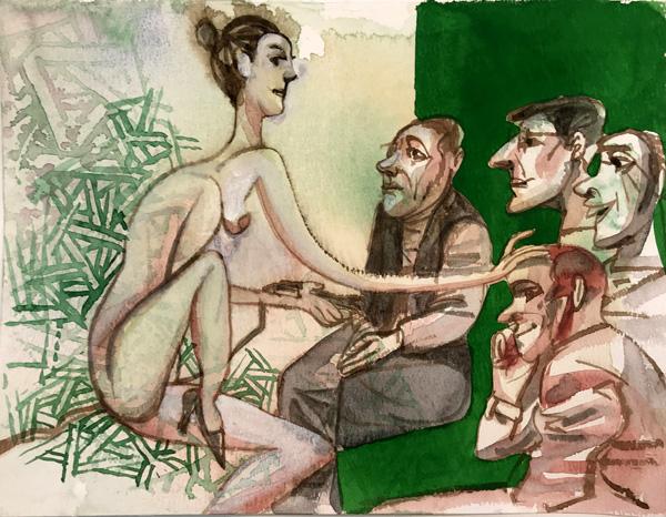 עבודתו של דוד גרשטיין מתוך התערוכה