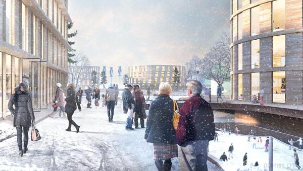 Image by BIG / Bjarke IngelsGroup- טיילת שכונתית, בקהילת צפון אירופה