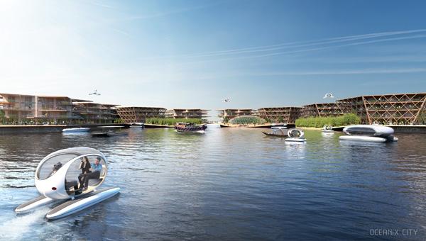 Image by BIG / Bjarke IngelsGroup- התושבים יוכלו להתנייד באמצעות כלי רכב ימיים חשמליים