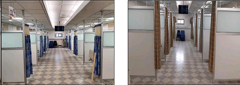 מחיצות הפרדה קבועות זכוכית שקופה, חלבית או בשילוב תריס פנימי בחלון העליון