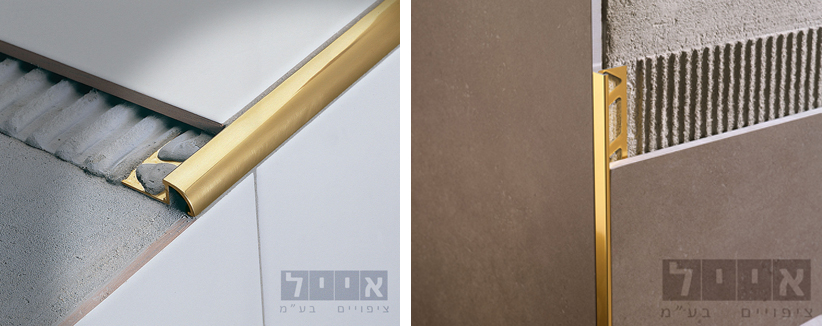 מימין: TRפרופיל פינה ישרה, משמאל: RJ פרופיל פינה עגולה. צילום: יח