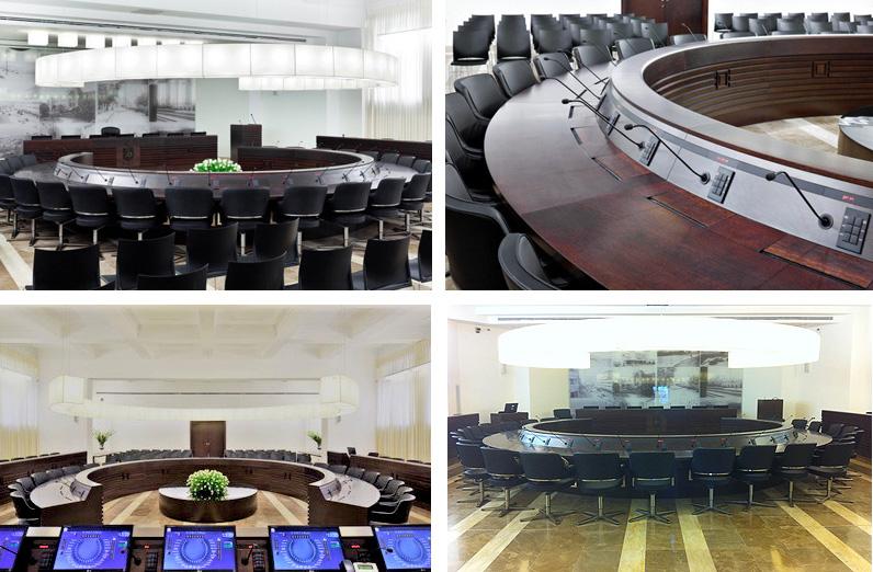 אולם הישיבות של מועצת העיר חיפה, צילום באדיבות : מדיה - קומפס