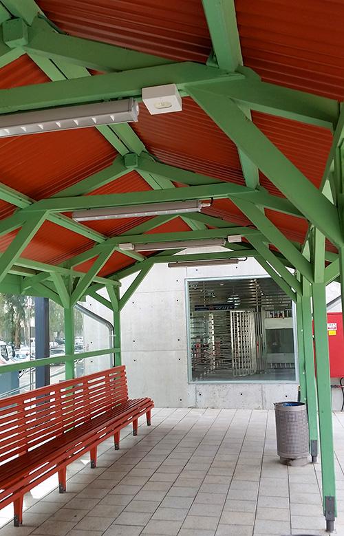 מבט אל הרציף בתחנת הרכבת בקרית מוצקין, צילום: אדריכל נתי רותם.