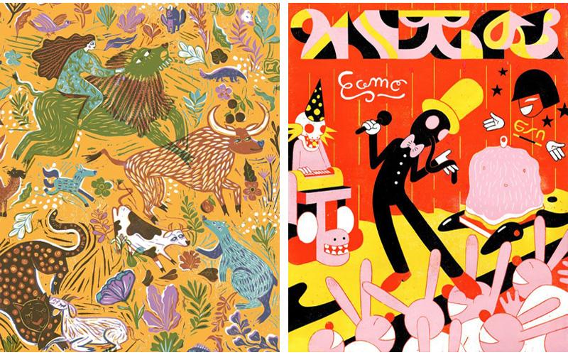 מימין: רומן קלוננק - מדינת נורדריין וסטפאלן, משמאל: מורן ואור יוגב - פסטיבל האיור 2020