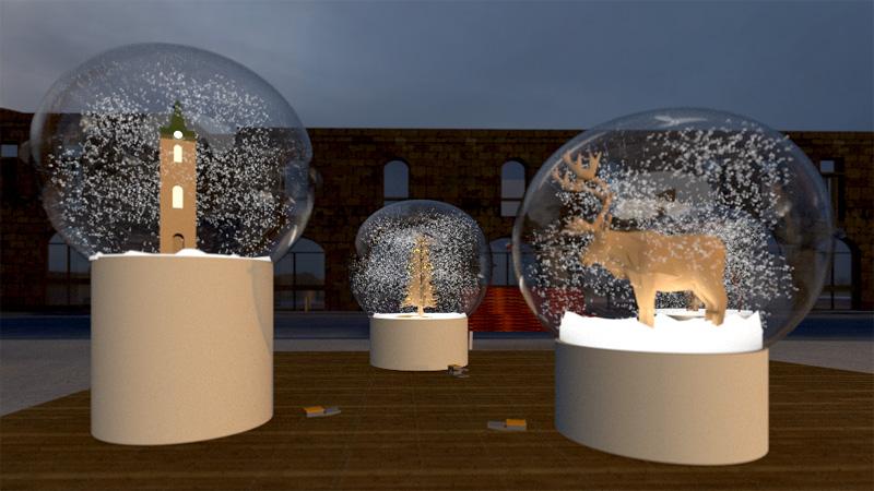 הדמיית כדור שלג - סיטי פלטון. אמנים - ענת ואילן ברמן - 1
