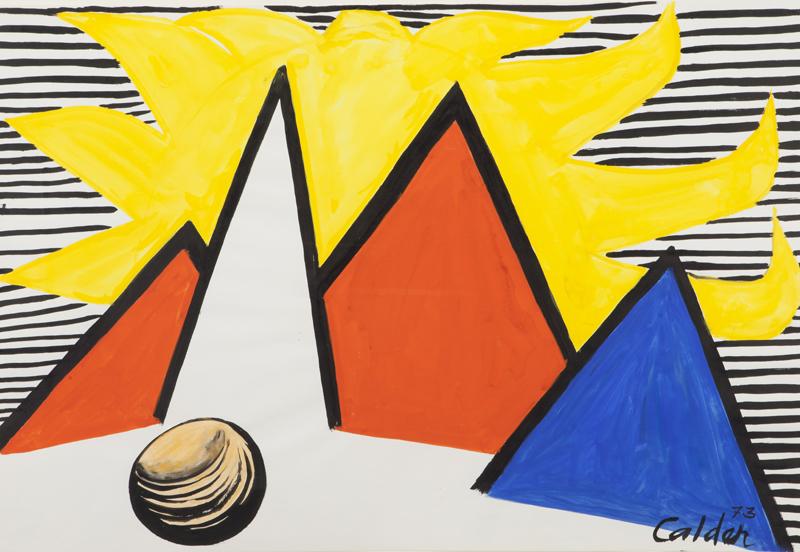 אלכסנדר קאלדר, שמש גדולה צהובה, 1973 Calder Foundation, New York / Artists Rights Society [ARS], New York 2021 ©