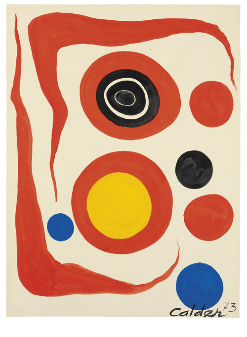 אלכסנדר קאלדר, שני בומרנגים אדומים Calder Foundation, New York / Artists Rights Society [ARS], New York 2021 ©