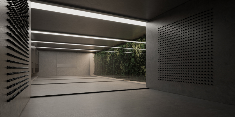 Disinfection entrance room, Image and concept by Makhno Studio