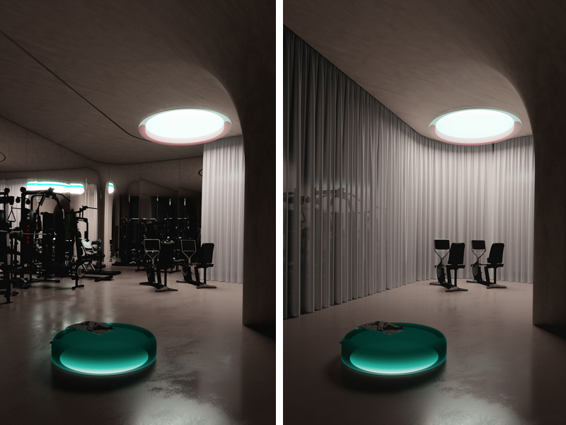 Gym, Image and concept by Makhno Studio
